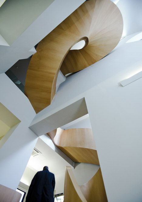 How cool are these stairs?! Found in the National Olympic Committee House by Architects of invention.
