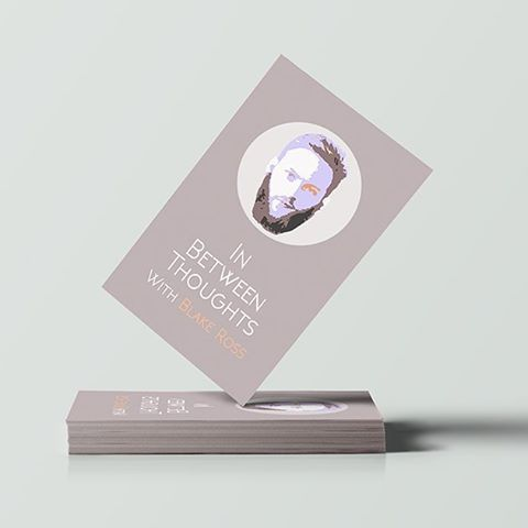 Business card design for the IN Between Thoughts podcast #businesswebdesign #graphicdesign #businesscards #art #design #business #startup