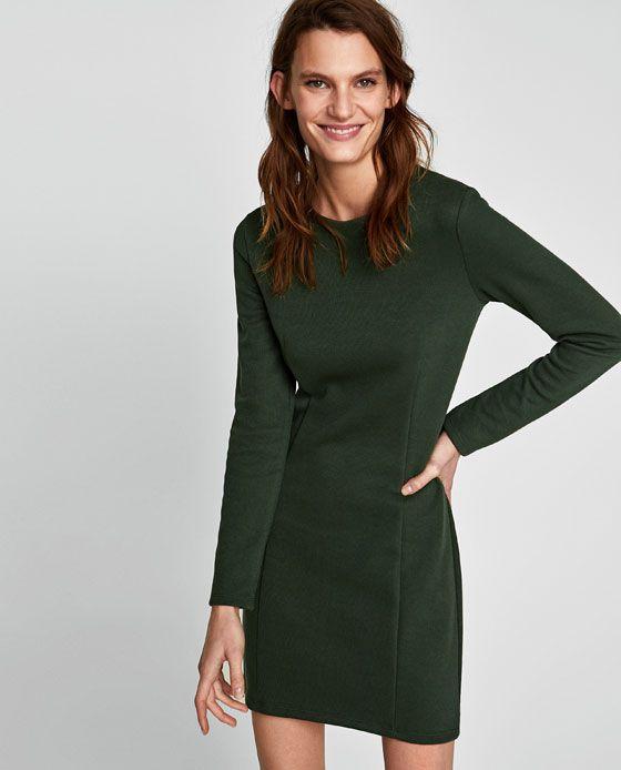 ZARA - WOMAN - LONG SLEEVE KNIT DRESS
