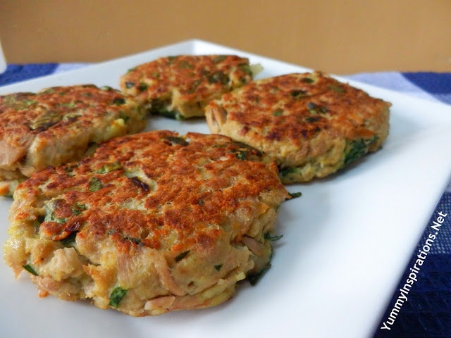 Tuna And Spinach Burgers {would use coconut flour or other gf blend for breadcrumbs}