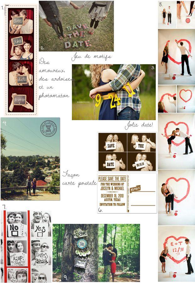 "Planche ""save the date"" par #lamarieeauxpiedsnus #wedding #savethedate Crédits photo/ Sources: 1. 3bp / 2. Wildflowers Photography / 3. Korie Lynn / 4. Love me Sailor via Love vs Design/ 5. Dawson Taylor Studios / 6. Hello Lucky / 7. Daily Wedshare / 8. 2bp / 9. We Photographie /"
