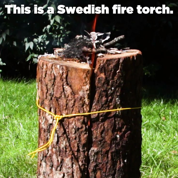 How To Make A Swedish Fire Torch