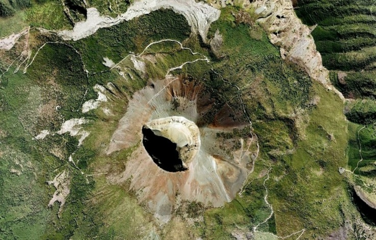 MT. VESUVIUS: This volcano is best known for the eruption that led to the destruction of Pompeii in 79 AD.  (High resolution satellite photo).