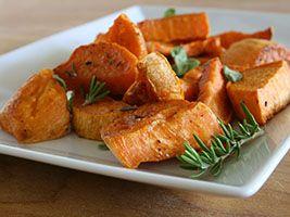 Patates douces au romarin