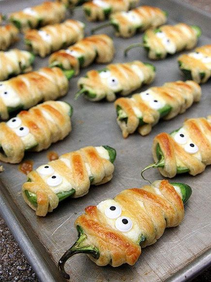 17 creepy cute treats to make for halloween mummy poppers another savory mummified - Gruesome Halloween Food