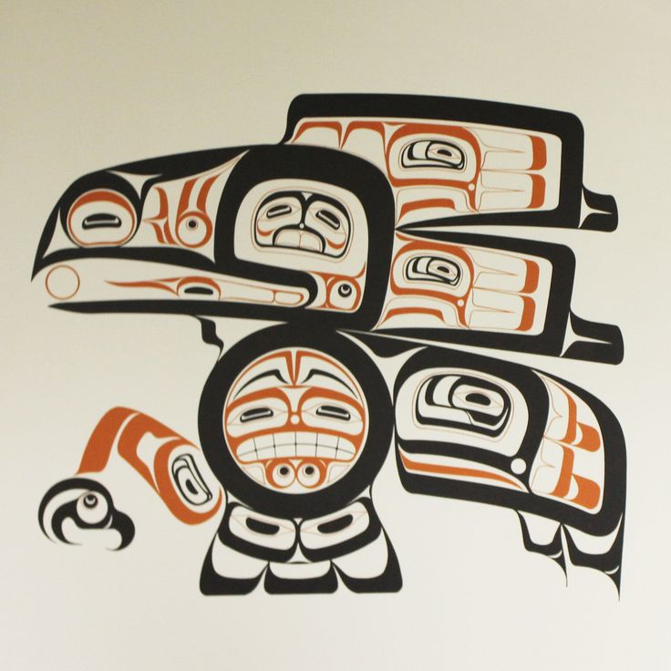 Poster with Northwest Tlingit native American Raven design. Poster is 17in. x 17in.