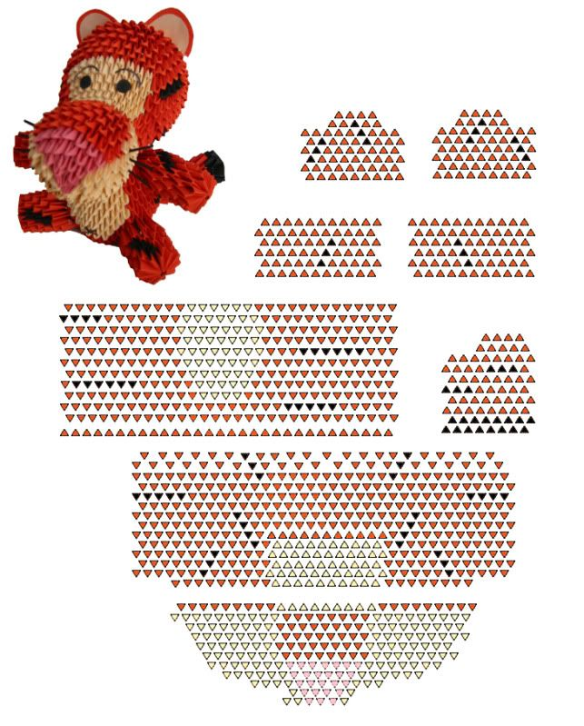 advanced origami tiger instructions
