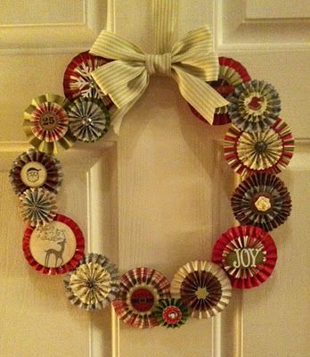 how to make a paper rosette wreath