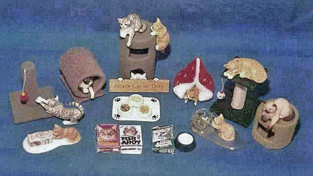 dollhouse miniature cat accessories and dog accessories to keep your miniature pets happy in