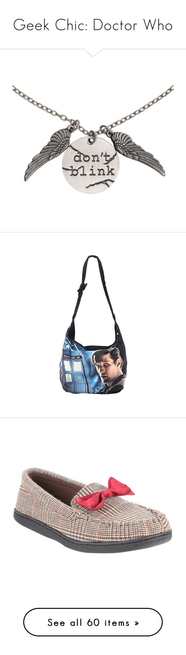 """""""Geek Chic: Doctor Who"""" by saint-mercy ❤ liked on Polyvore featuring jewelry, necklaces, accessories, doctor who, bags, handbags, shoulder bags, hobo purses, white hobo purse and white handbags"""
