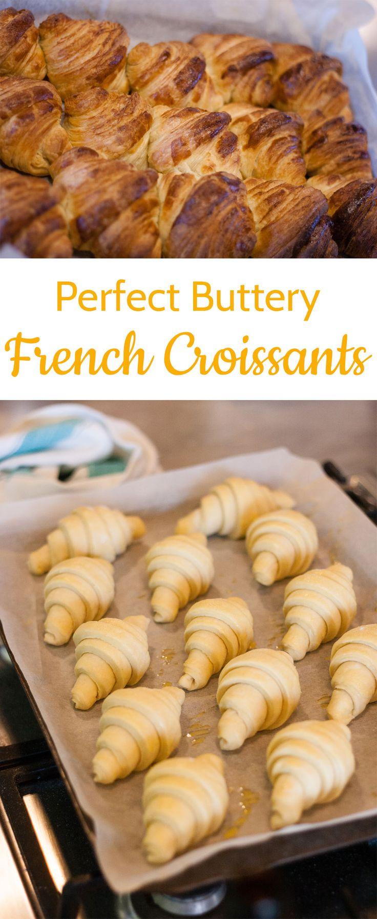 Parisian Style Buttery Croissants