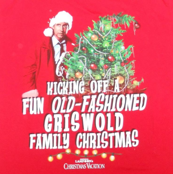 Christmas Vacation Party Ideas Part - 36: National Lampoons Griswold Family Christmas Vacation Red T-Shirt Large Worn  1 X #NationalLampoons