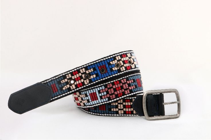 Handmade woven belt. Created on wooden-manual loom. Pattern of Thracian traditional female outfit. Impressive design based on the color harmony and geometrical shapes. It requires accuracy and absorption, during the embroidering.
