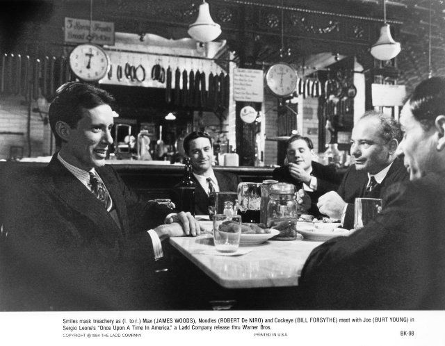 Still of Robert De Niro, James Woods, William Forsythe and Burt Young in Once Upon a Time in America (1984)