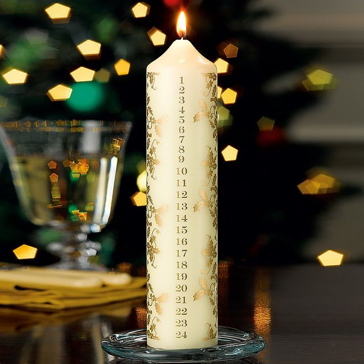 Holly Advent Candle