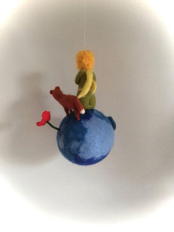 Mobile der kleine Prinz Fuchs Filz. Waldorf von FilzArts auf Etsy