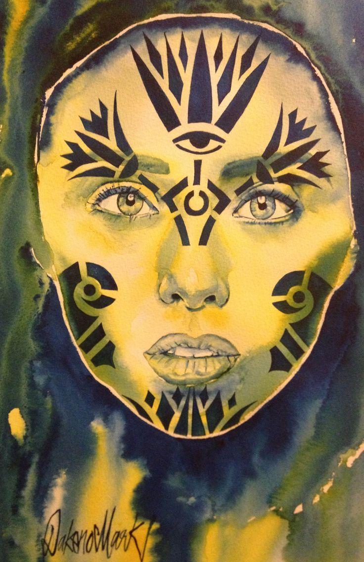 Alysha  Watercolour by Dakeno  2014