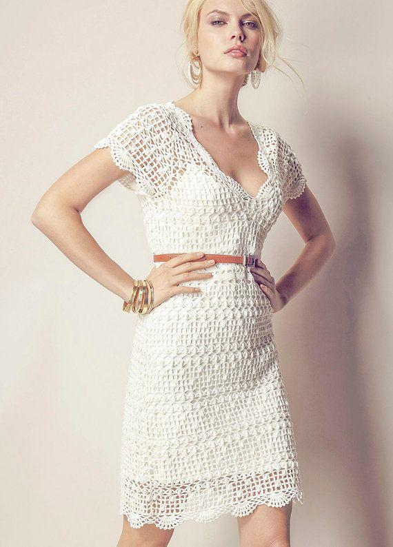 TENDENCIAS de la moda  exclusivo ganchillo vestido por LecrochetArt, $320.00