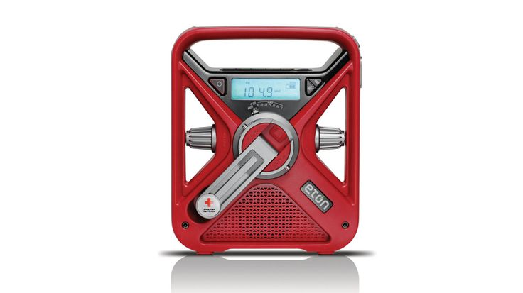 he American Red Cross rechargeable FRX3 AM/FM Weather Alert Radio includes digital tuning for AM/FM stations, a USB cellular phone charger, a headphone output and an AUX input for your very own music device.