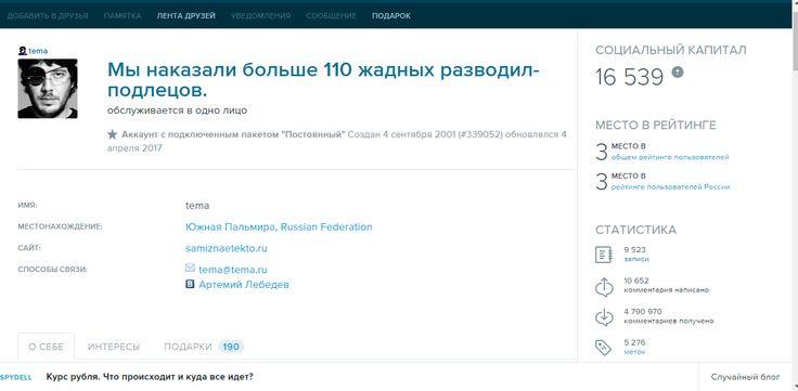 Блог Артемия Лебедева