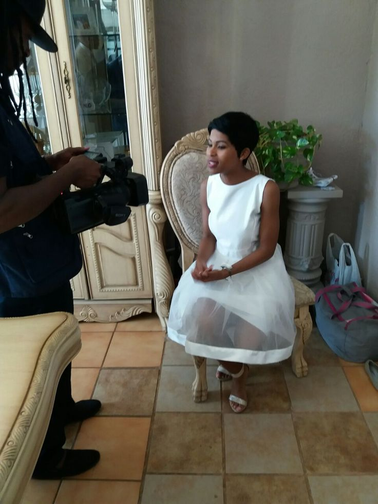 Pre- Interview!  Noxolo Mkotjwa :) Love her!
