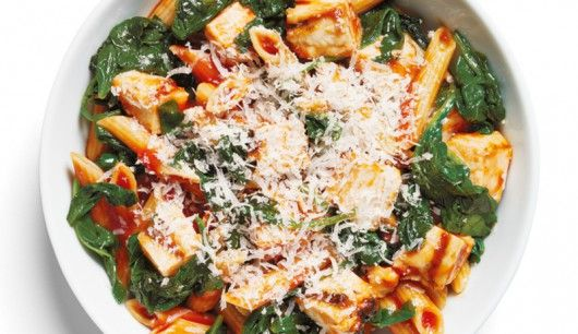 Spinat-Penne mit Huhn - Women's Health