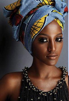 Turban!  Beautiful woman, beautiful turban  I wish I could pull off one of those.