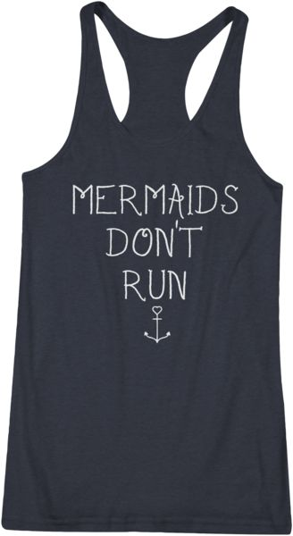 Cardio? Mermaids Don't Run. Ladies fitted rackerbacktank top. 3.6 oz. 30/1's Fine Knit Jersey,65% Polyester/35% Ring-spun cotton, racerback styling, double-