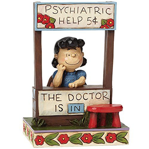 Jim Shore Peanuts Lucy Doctor Is In Psychiatric Help Figure Collectible 6-In @ niftywarehouse.com #NiftyWarehouse #Peanuts #CharlieBrown #Comics #Gifts #Products