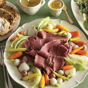 YUM, Homemade Corned Beef with Vegetables  Photo Credit: Courtesy of Martha Stewart from Country Living!