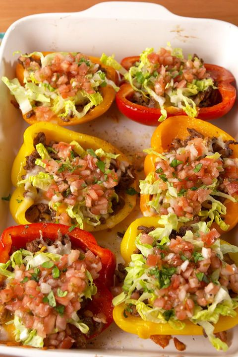 Taco Stuffed Peppers: Taco 'bout a healthy dinner!