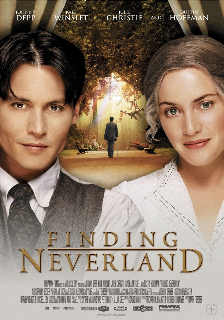 FINDING NEVERLAND - Romance with Johnny Depp & Kate Winslet in the leading roles #cinema #movie- I never this, I wonder if its good.