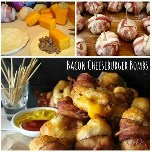 Bacon cheeseburger bombs -epic meal time-