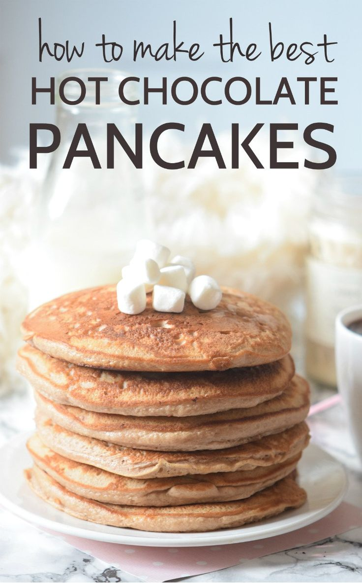 How to make pancakes!! Seriously guys this Hot chocolate pancake recipe is the best ever!!! | carmelapop.com