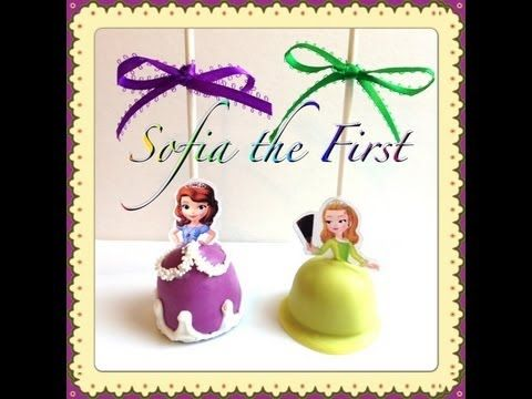 Sofia the First Cake Pops—Love how she uses the silicone mold to get the bell shape of the dress. I think the #3 tip is too large for the details but that is a personal preference.