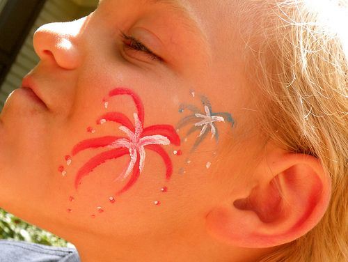 firework face paintings - Google Search