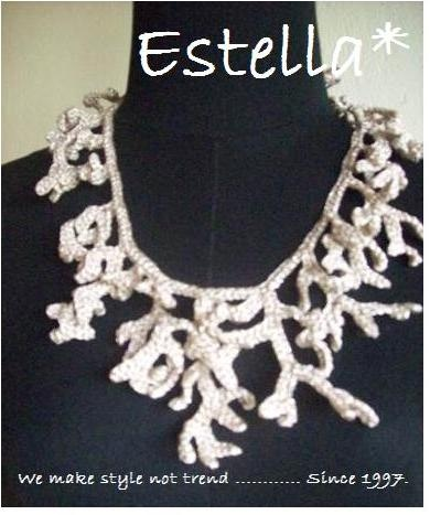 Gold yarn....hand crochet necklace...Like the Coral.