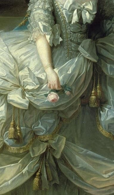 Details Dress ~ Marie Antoinette by Vigee Le Brun