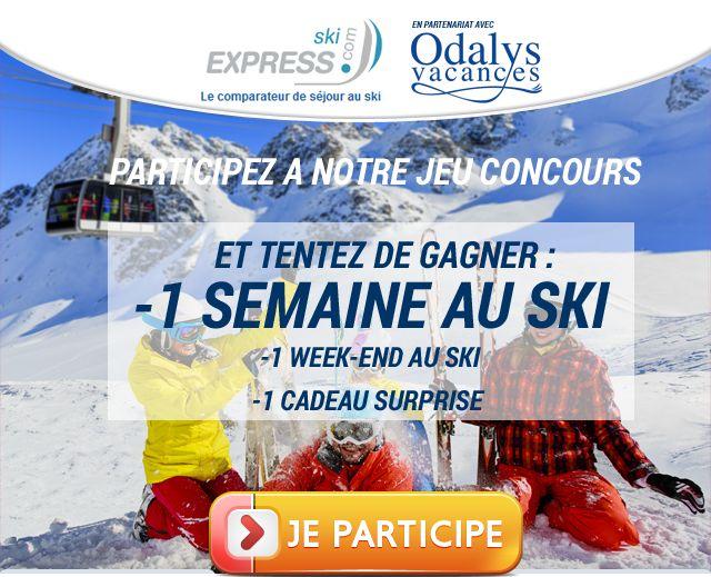 Concours Ski-Express.com : gagnez un séjour d'une semaine au ski !