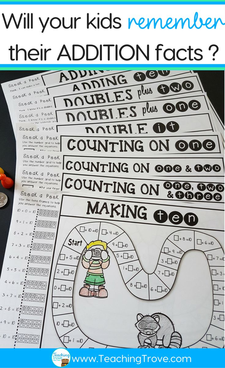 Don't let your kids forget their addition strategies over the holidays. Send them home with fun addition strategy practice games.