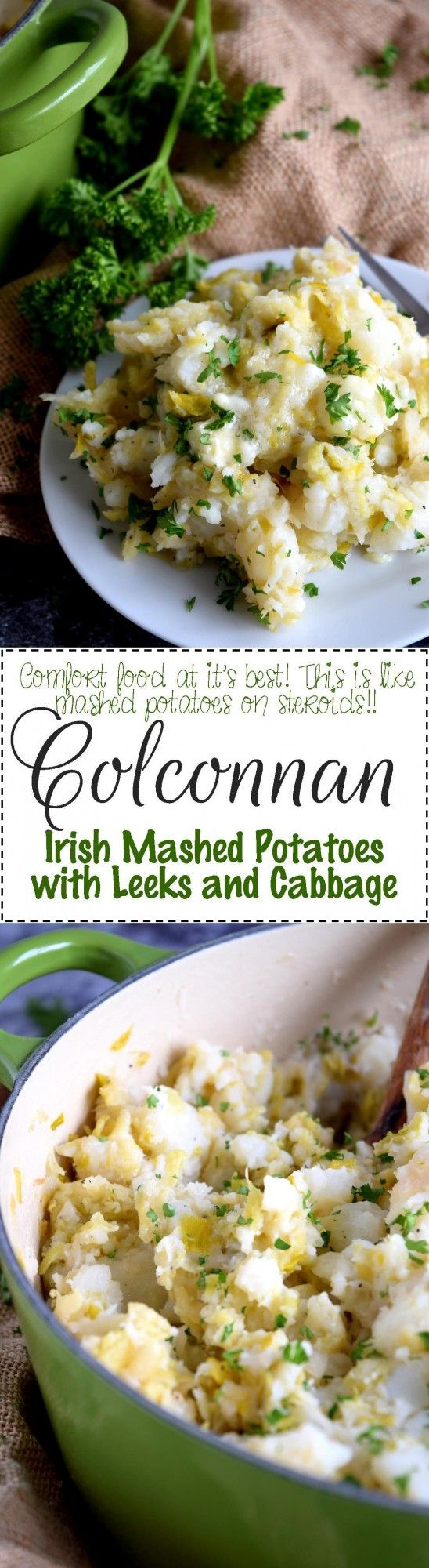 Colconnan - Irish Mashed Potatoes with Leeks and Cabbage - Lord Byron's Kitchen