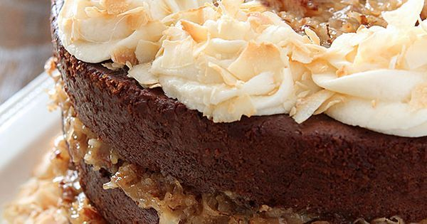 German Chocolate Cake with Rum Glaze and Buttercream   Recipe   Chocolate cakes, Creative and Foodies