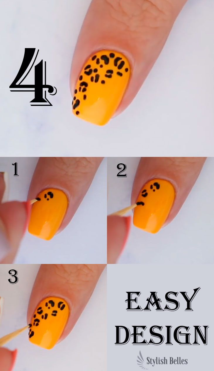 5 Easy Nail Art Designs For Beginners At Home Stylish Belles Simple Nail Art Designs Leopard Nail Art Designs Leopard Nail Art
