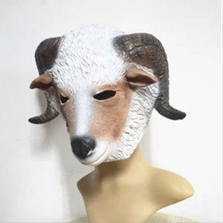 1pc Fun Goat Halloween Mask Realistic Latex Silent Sheep Head Interesting Funny Party Masquerade Masks Silicone mask Gifts