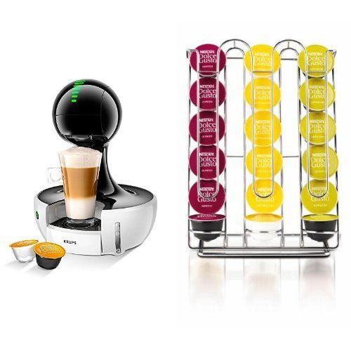 From 115.99 Krups Nescafe Dolce Gusto Drop Touch Coffee Machine - White  Nescafe Dolce Gusto Pod Holder