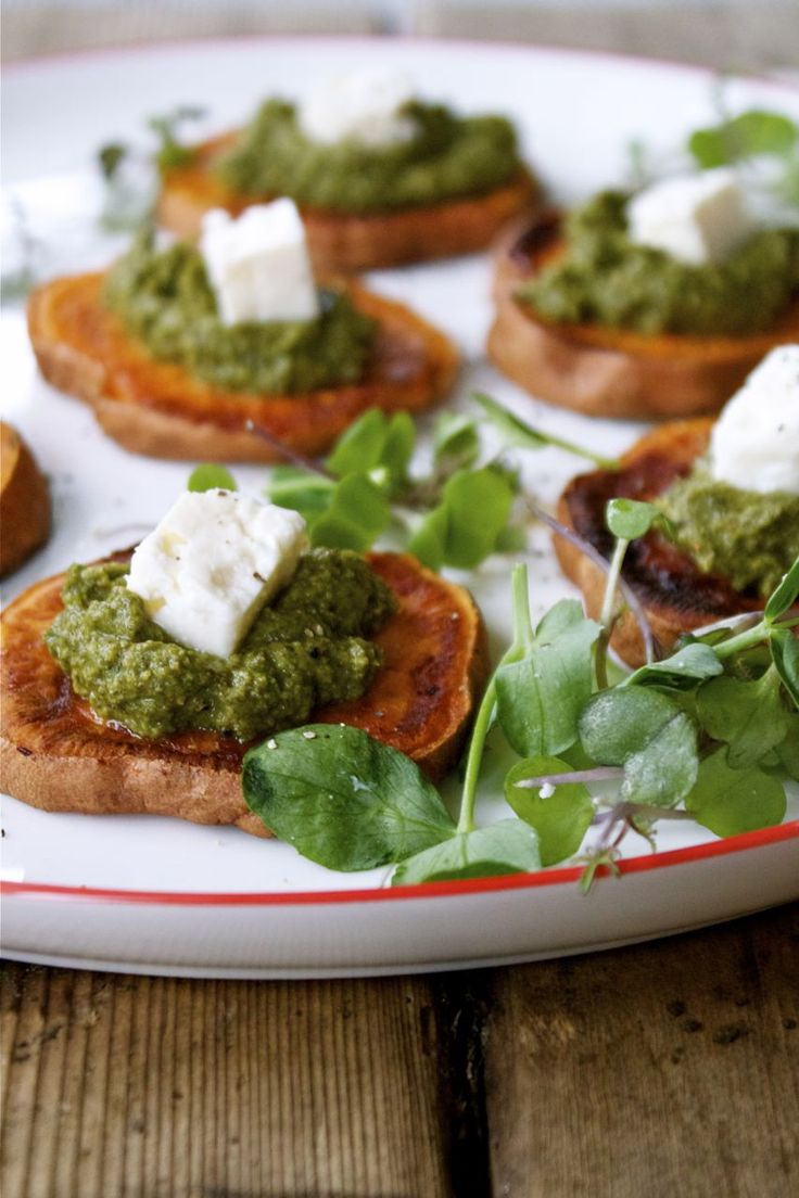 Spring Nettle Pesto with Roasted Yams   In Pursuit of More