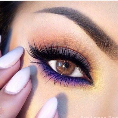 purple smokey eye ~ we ❤ this! moncheribridals.com #weddingmakeup