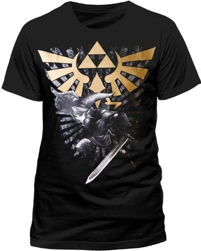 Nintendo T-Shirt -S- Zelda/Link, schwarz