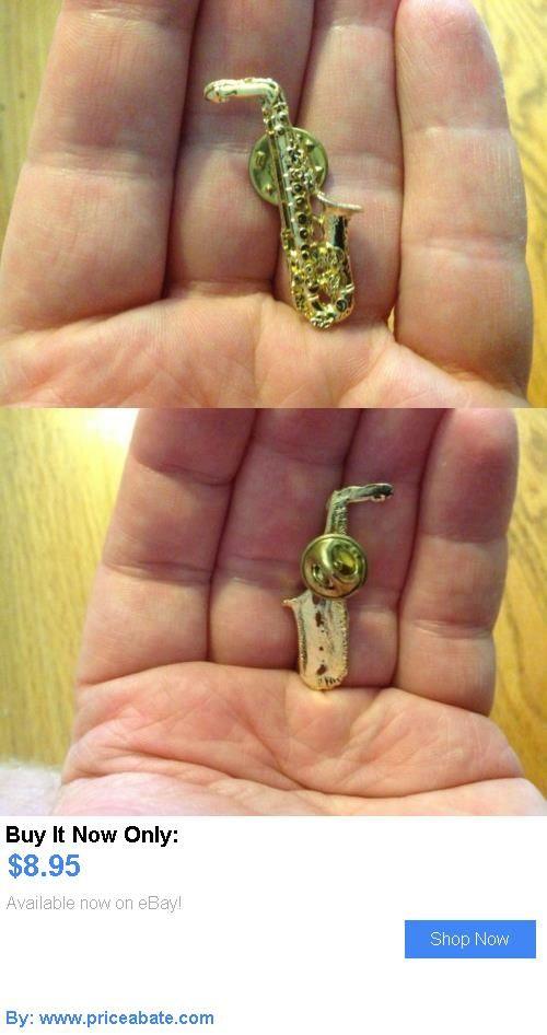 Bill Clinton: Original 1992 President Bill Clinton Saxophone Campaign Lapel Pin Button Tie Tac BUY IT NOW ONLY: $8.95 #priceabateBillClinton OR #priceabate