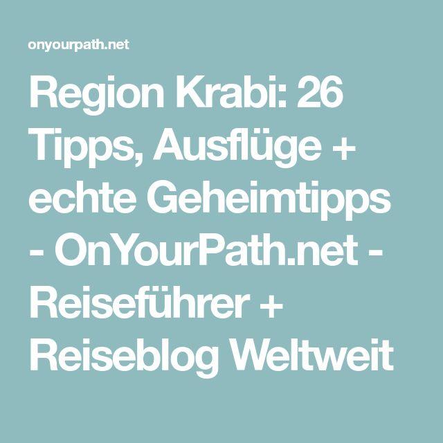 Region Krabi: 26 Tipps, Ausflüge + echte Geheimtipps - OnYourPath.net - Reiseführer + Reiseblog Weltweit
